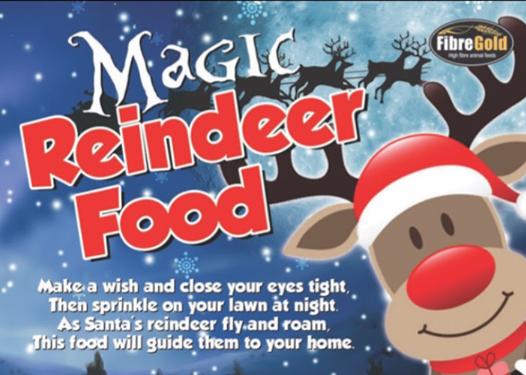 Reindeer Feed Label