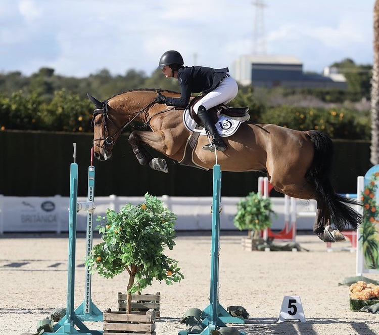 Susan competing with Chacco in Valencia recently