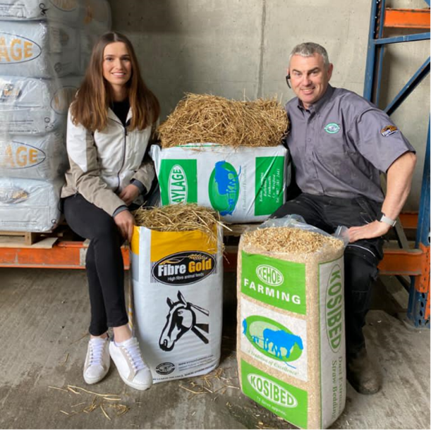 Susan and Willie John with our Haylage and KosiBed products